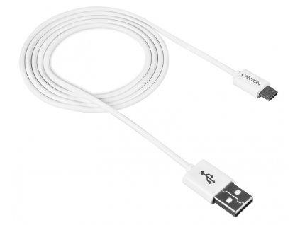 CANYON Jednoduchý Sync&Charge kabel Micro USB CNE-USBM1W