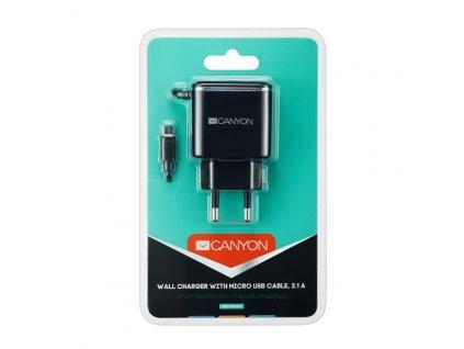 CANYON univerzální 1x USB nabíječka do sítě s ochranou proti přepětí, USB C CNE-CHA041BS