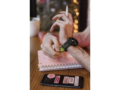 """CANYON chytré hodinky Oregano, 1,3"""" barevný plně dotykový display, IP68, režim multisport, iOS/android CNS-SW81BG"""