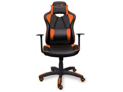 Connect IT LeMans Pro herní židle, oranžová