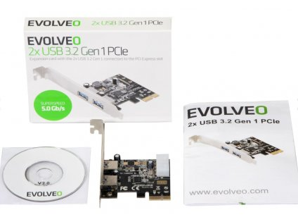 EVOLVEO 2X USB 3.2 GEN 1 PCIE