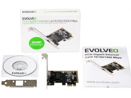 EVOLVEO PCIE GIGABIT ETHERNET CARD 10/100/1000 MBPS
