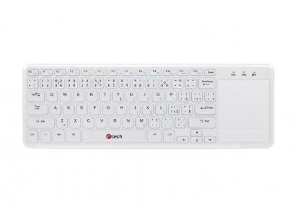 C-TECH WLTK-01W, bezdrátová klávesnice s touchpadem