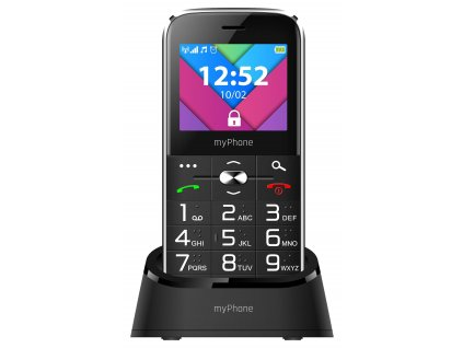 myPhone Halo C Senior Černý