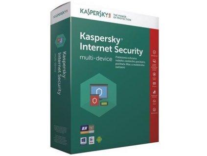 Kaspersky Internet Security, 3 lic., 2 roky, obnovení licence, elektronicky