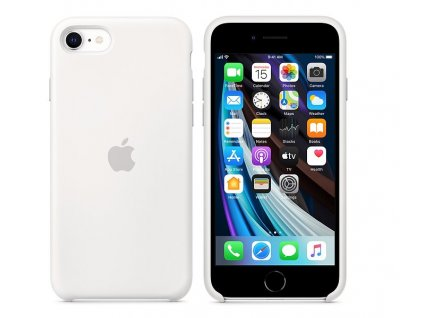 APPLE iPhone SE Silicone Case - White (mxyj2zm/a)