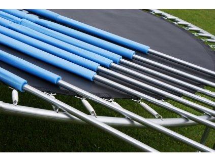 GoodJump 4UPVC modrá trampolína 305 cm s ochrannou sítí + žebřík + krycí plachta