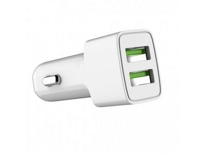 ColorWay nabíječka do auta 2x USB 12W, bílá