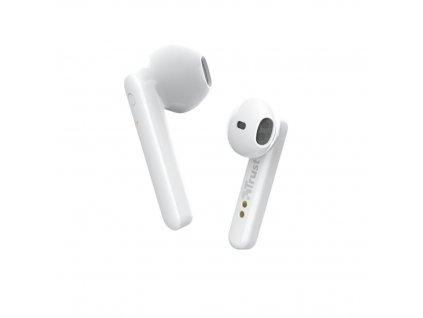 Trust Primo Touch Bluetooth Wireless Earphones, bílá