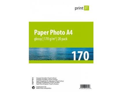Print IT papír A4 170 g/m2 Glossy 20pck/BAL