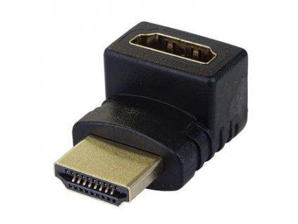 Adapter HDMI M/F zahnutý do pravého úhlu 90°