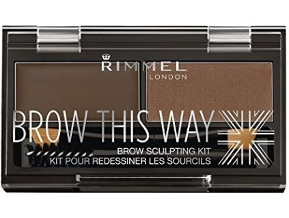Rimmel London Brow This Way Scuplting Kit 2,4g - 003 Dark Brown