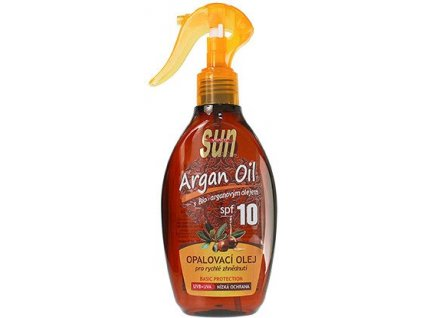 Vivaco SUN Argan Oil Tanning Oil Spray SPF 10 200ml