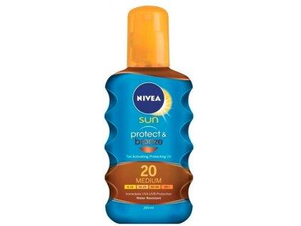 Nivea Sun Protect & Bronze Oil SPF 20 200ml