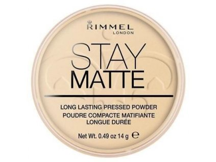 Rimmel London Stay Matte Pressed Powder 14g - 001 Transparent