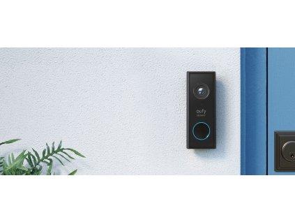 Eufy Video Doorbell 2K black (Battery-Powered) + Home base 2