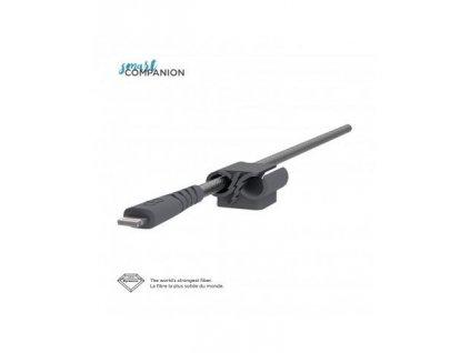 Kabel CABLEXPERT USB 2.0 Lightning (IP5 a vyšší) nabíjecí a synchronizační kabel, opletený, 1,8m, černý, blister