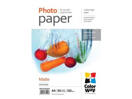 ColorWay fotopapír matný 135g/m2, A4/ 50 listů