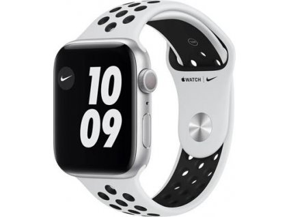 APPLE Watch Nike Series 6 44mm Silver Aluminium Case with Pure Platinum/Black Nike Sport Band - Regular
