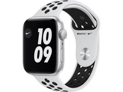 APPLE Watch Nike SE 44mm Silver Aluminium Case with Pure Platinum/Black Nike Sport Band - Regular
