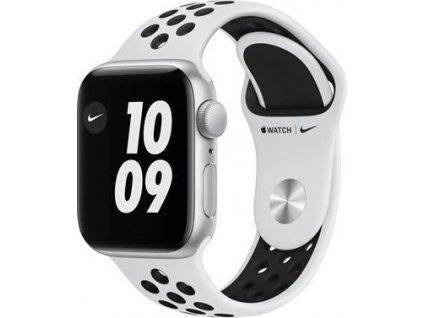 APPLE Watch Nike SE 40mm Silver Aluminium Case with Pure Platinum/Black Nike Sport Band - Regular