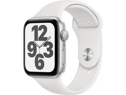 APPLE Watch SE 44mm Silver Aluminium Case with White Sport Band - Regular