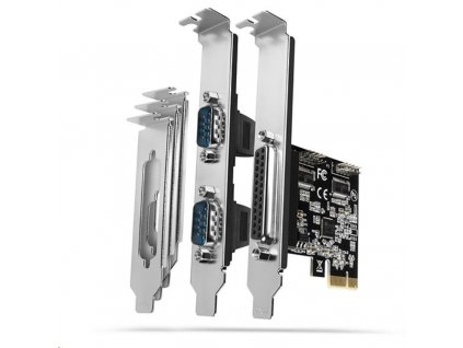 AXAGON PCEA-PSN, PCIe řadič - 1x paralelní (LPT) + 2x sériový port