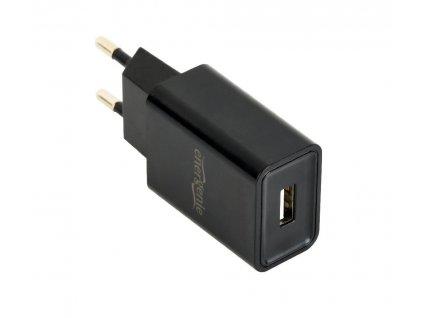 Gembird Energenie USB nabíječka 2.1A, černá