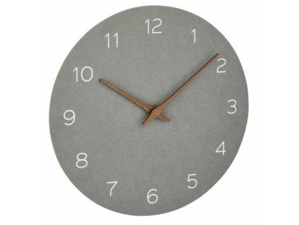TFA nástěnné hodiny 60.3054.10 - betonová šedá