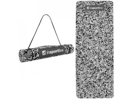 INSPORTLINE Podložka na cvičení Camu 173x61x0,4 cm - šedá - šedý maskáč