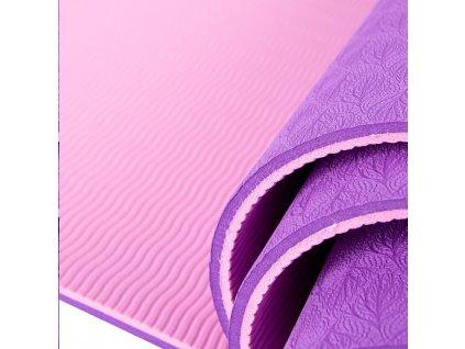INSPORTLINE Fitness podložka Doble - fialová/růžová