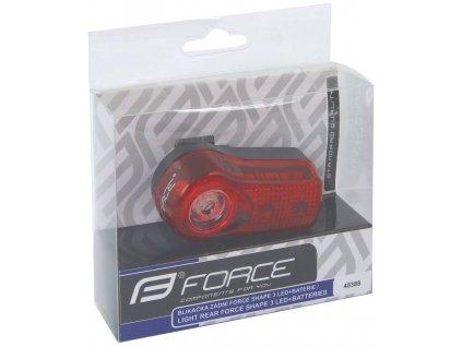 FORCE světlo zadní SHAPE - 3 diody + baterie
