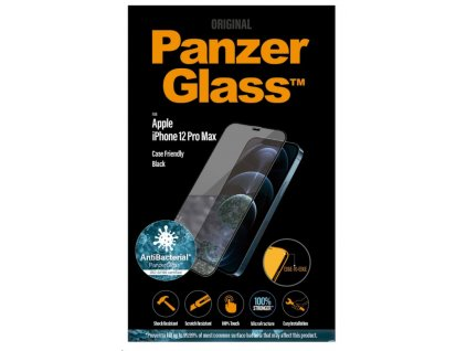 PanzerGlass Edge-to-Edge Antibacterial pro Apple iPhone 12 Pro Max černé