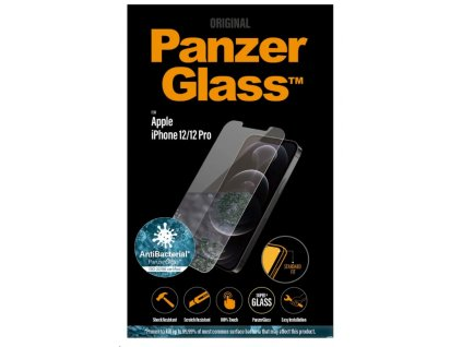 PanzerGlass Standard Antibacterial pro Apple iPhone 12/12 Pro čiré