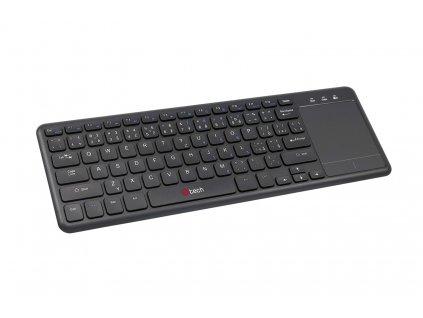 C-TECH WLTK-01, bezdrátová klávesnice s touchpadem