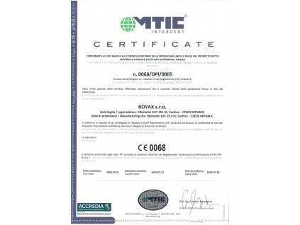 Royax Medical - respirátor FFP2 - Certifikovaný CE 0068 - 5ks vel. L