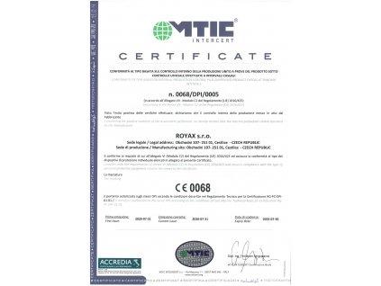 Royax Medical - respirátor FFP2 vel. L - Certifikovaný CE 0068 - 5ks