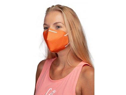 GoodMask GM2 respirátor FFP2 - 10ks oranžová