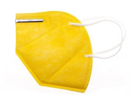 GoodMask GM2 respirátor FFP2 - 10ks žlutá