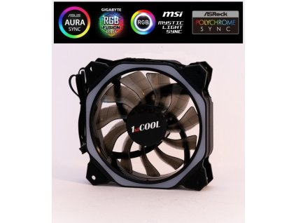 1stCOOL AURA RAINBOW Hexagon 1 ARGB ventilátor 12cm