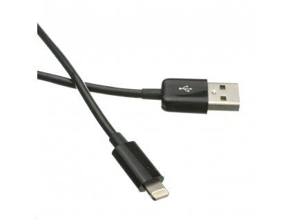 C-TECH USB 2.0 Lightning (IP5 a vyšší) kabel 2m, černý