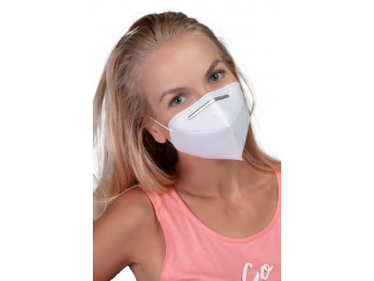GoodMask GM2 respirátor FFP2 - 3ks bílá