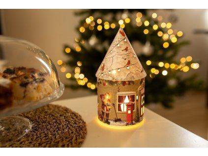 Marimex Domek vánoční svítící 5 LED