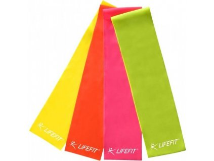 Posilovací guma LIFEFIT FLEXBAND 0,45, žlutá