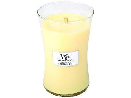 WoodWick oválná váza Lemongrass & Lily 609,5g