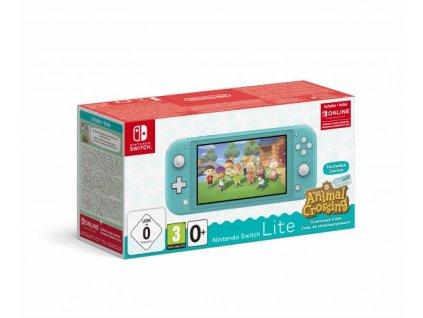 Nintendo Switch Lite Turquoise + Animal Crossing New Horizons + NSO 3M