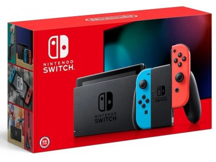 Nintendo Switch (2019), neon red&blue