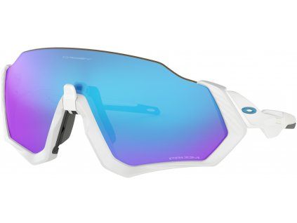 OAKLEY Flight Jacket Polished white - PRIZM Sapphire