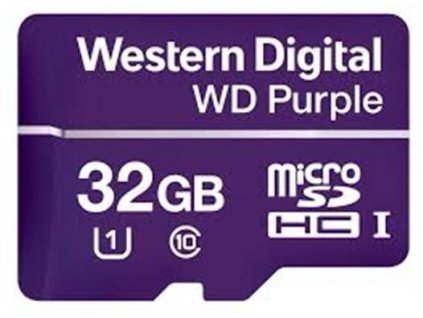 WD Purple micro SDHC 32GB UHS-I (čtení/zápis: 80/50MB/s)