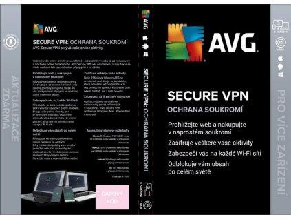 AVG SECURE VPN pro 5 zařízení na 12 měsíců BOX